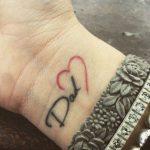 Tattoo in memoria del padre scomparso