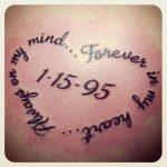Tatuaggio in memoria persona cara scomparsa