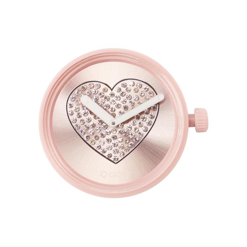 Meccanismo O Clock Sparkling heart cipria per orologio O Bag