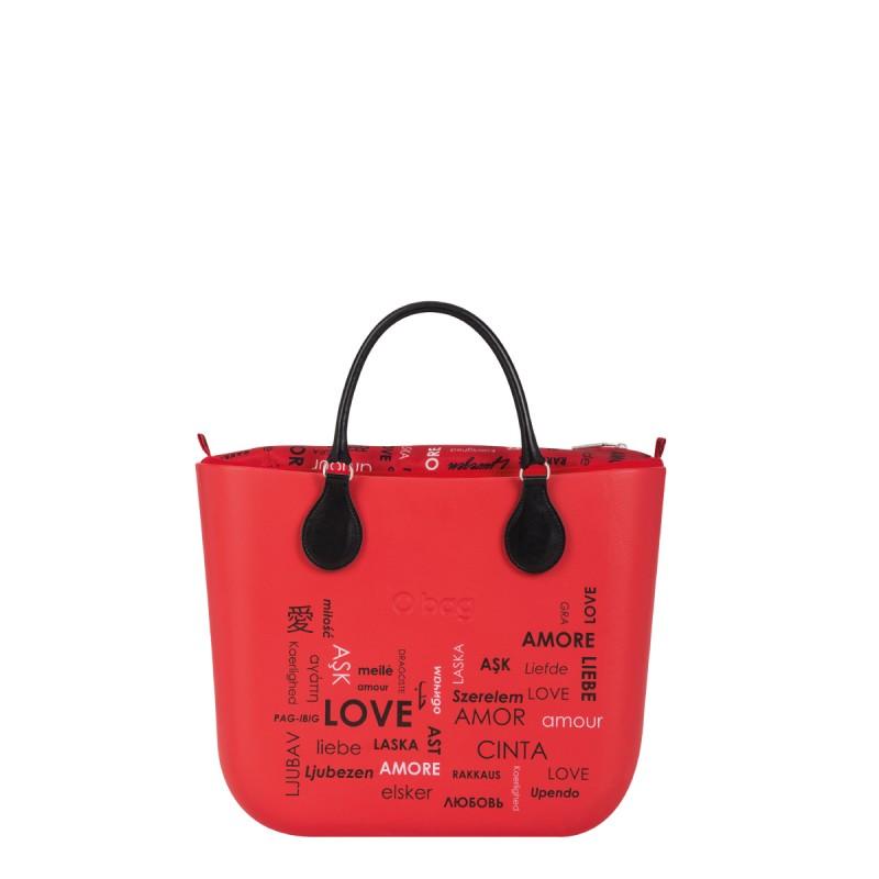 O Bag Rossa San Valentino 2019 con manici corti prezzo 132 euro