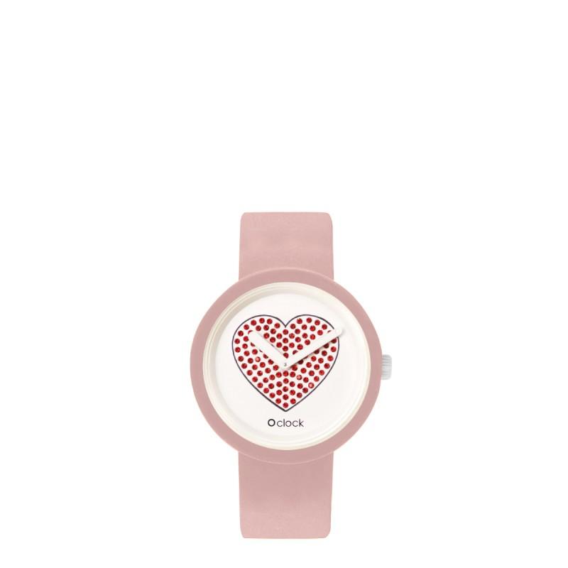Orologio O Clock Cipria 2019 con cuore rosso