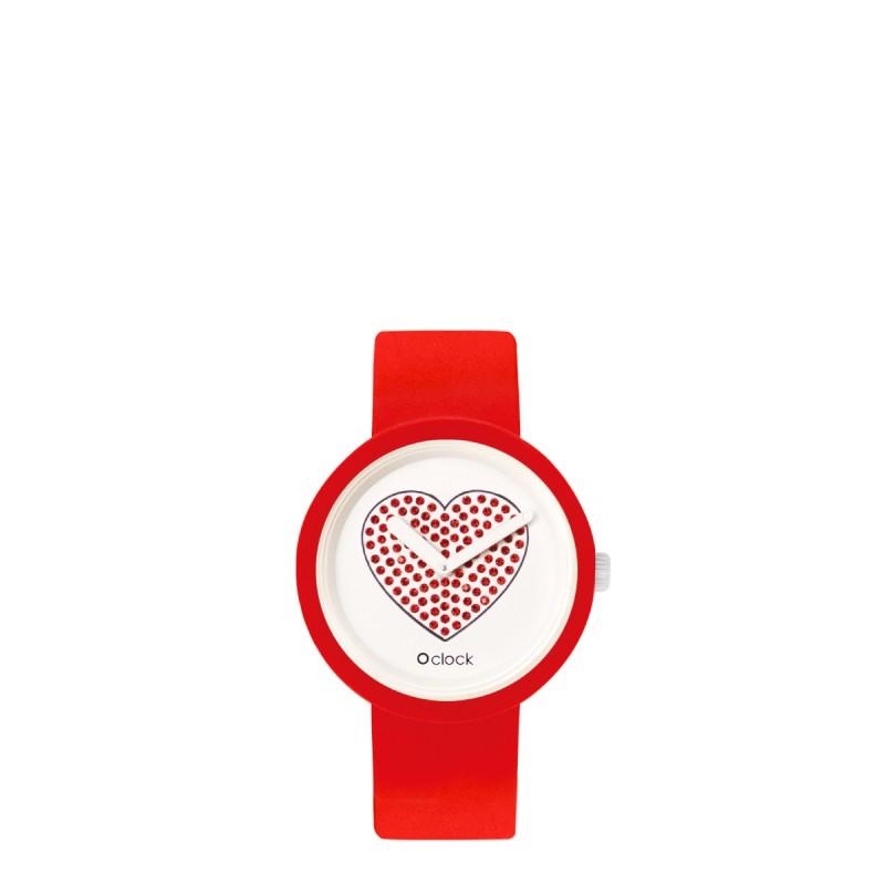Orologio O Clock di O bag rosso con meccanismo cuore rosso 2019