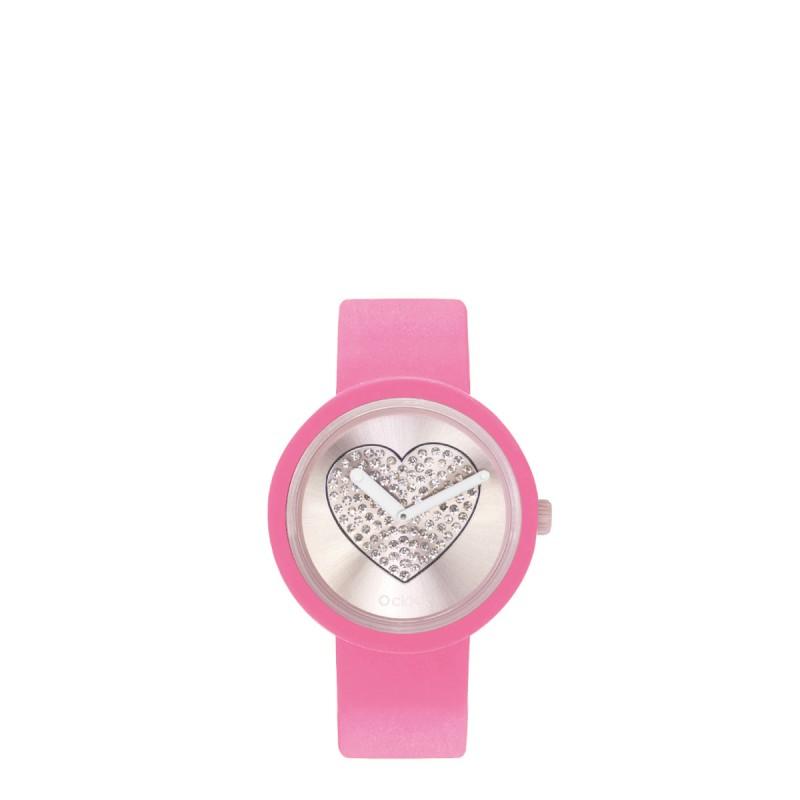 Orologio O Clock pink con meccanismo cuore cipria 2019