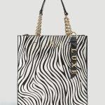 Borsa Luxe Guess in cavallino zebrato prezzo 235 euro collezione primavera estate 2019