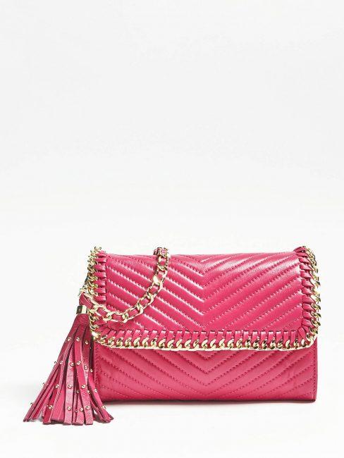 Mini bag in pelle trapuntata Guess estate 2019 prezzo 150 euro