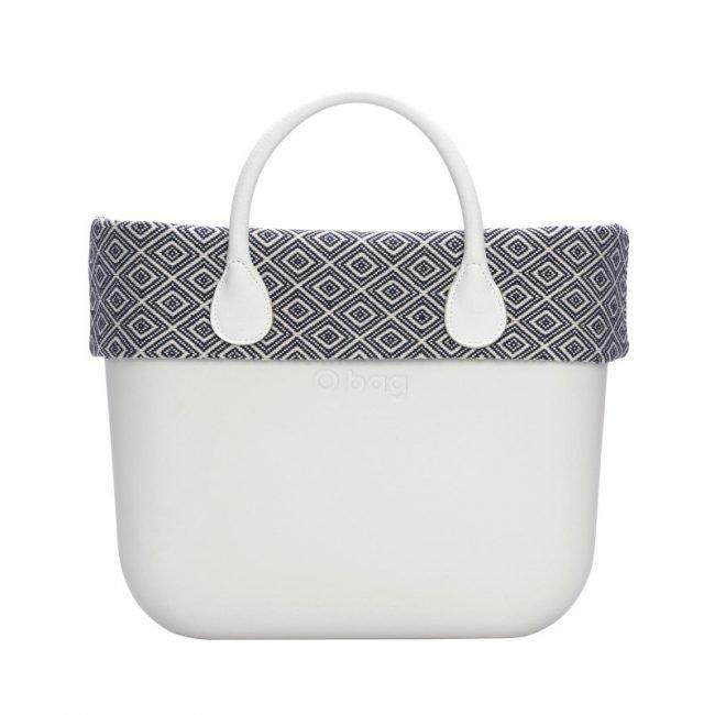 Nuovo bordo borsa O Bag in cotone fantasia jacquard