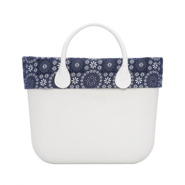 O bag bordo in sangallo floreale blu navy estate 2019