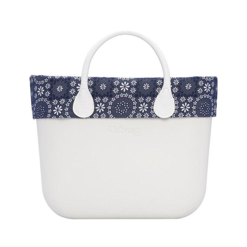 O bag bordo in sangallo floreale blu navy estate 2019