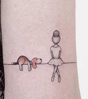 Tatuaggio bracciale donna