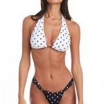 Costume a pois con reggiseno a triangolo e slip con sgambatura regolabile Bikini Lovers