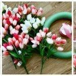 Idea Ghirlanda primaverile fai da te con tulipani