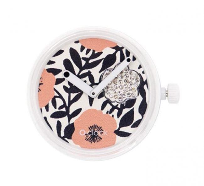 Meccanismo orologio O Clock di O bag estate 2019 Crystal Flowers