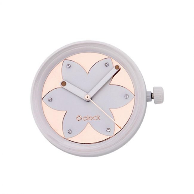 Meccanismo orologio O Clock di O bag estate 2019 Metal Flower Rose Gold