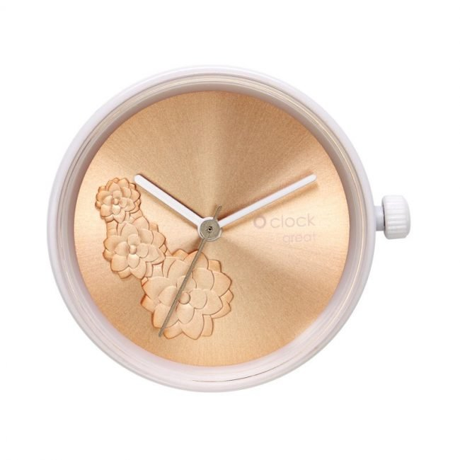 Meccanismo orologio O Clock di O bag estate 2019 Waterlilies Rose Gold
