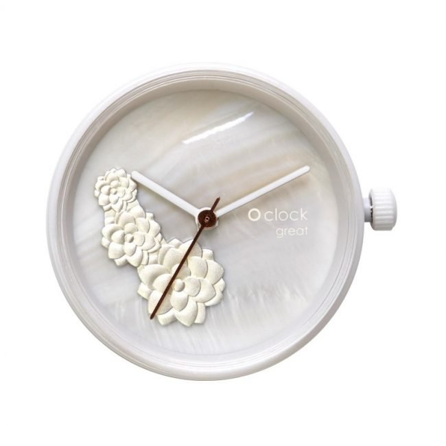 Meccanismo orologio O Clock di O bag estate 2019 Waterlilies Silver