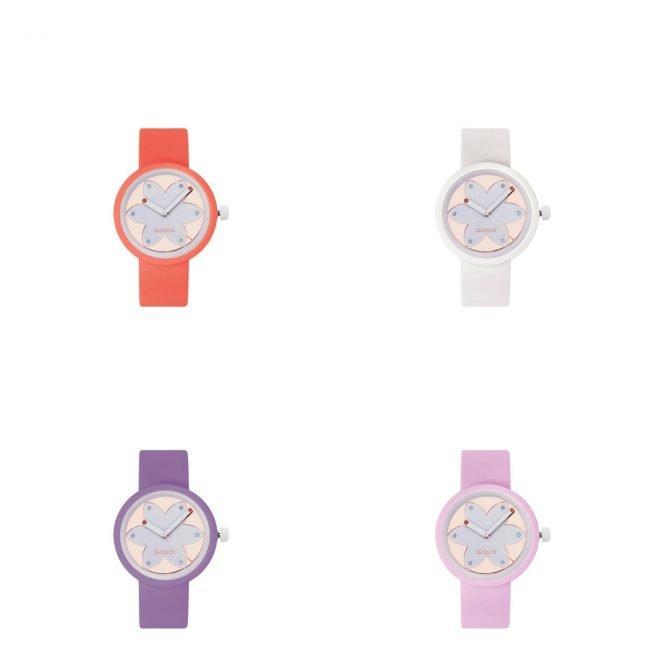 Nuovo orologio O Clock Metal Flower con meccanismo Gold Rose 2019