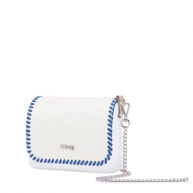 Pattina borsa O Bag Pocket collezione primavera estate 2019 con profilo blu cobalto
