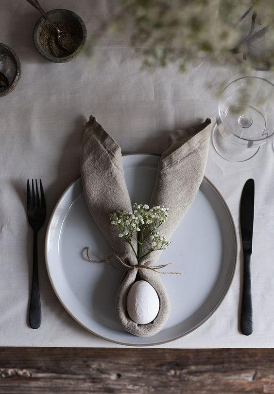 Segnaposto per tavola di Pasqua