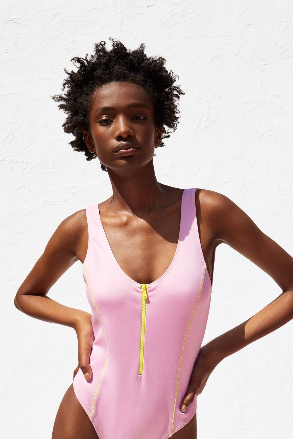 Costume intero Zara con zip estate 2019