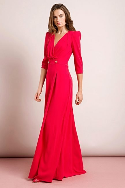 Elegante abito lungo da cerimonia Elisabetta Franchi collezione primavera 2019