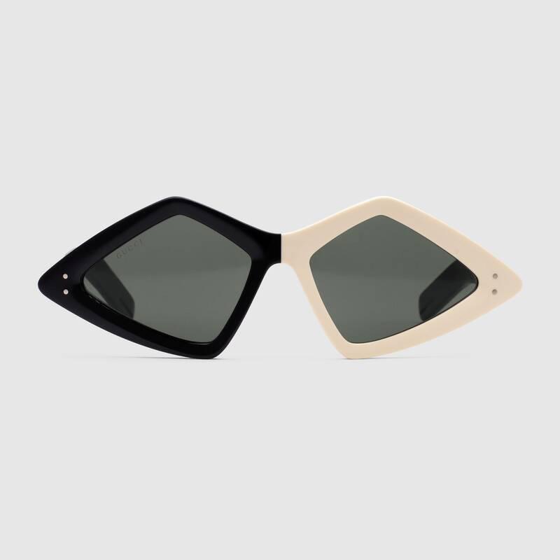Gucci occhiale da sole a forma diamante estate 2019 prezzo 300 euro