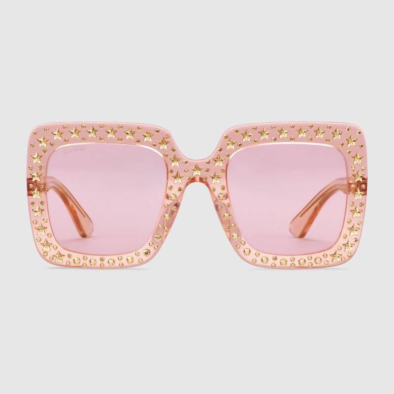 Gucci occhiali da sole donna con stelline estate 2019 prezzo 700 euro