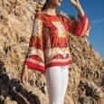 Maglia con le maniche a campana in fantasia foulard Nara Camicie s s 2019