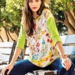 Nara Camicie Maglia stampa floreale catalogo primavera estate 2019