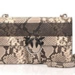 Pinko Love bag Python in pelle stampa pitone estate 2019 prezzo 295 euro