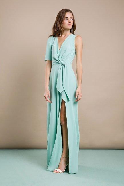 Vestito lungo Elisabetta Franchi con spacco primvera estate 2019