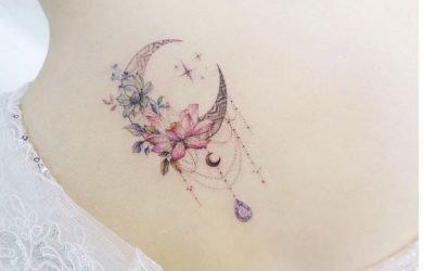 Romantico tatuaggio Acchiappasogni sulla schiena