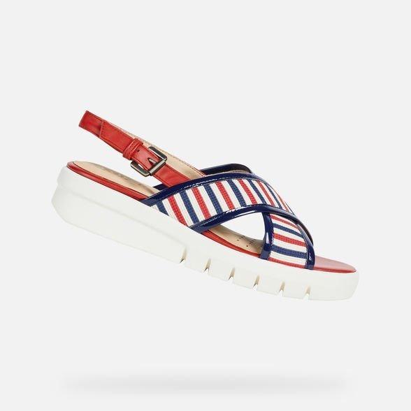 Sandalo con suola platform in gomma Geox estate 2019 mod Wimbley