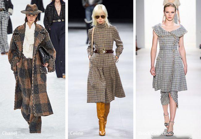 Abbigliamento in tweed moda inverno 2019 2020