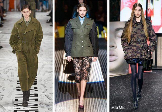 Abbigliamento stile militare moda inverno 2019 2020