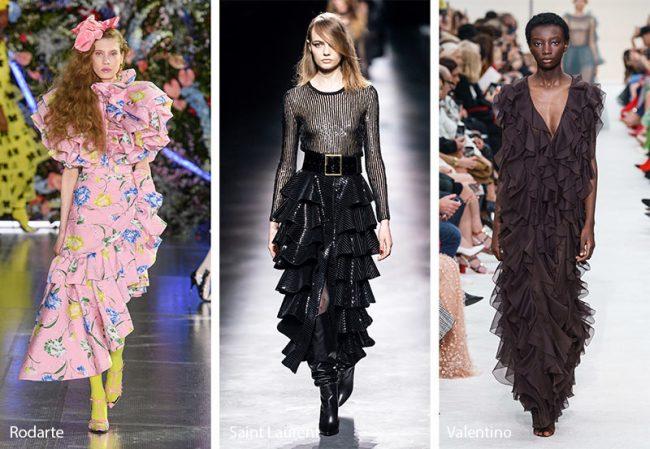 Abiti con volant moda inverno 2019 2020