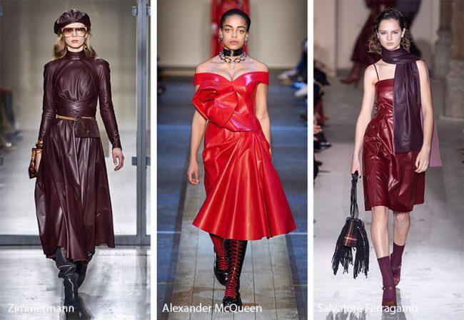 Abiti in pelle moda inverno 2019 2020
