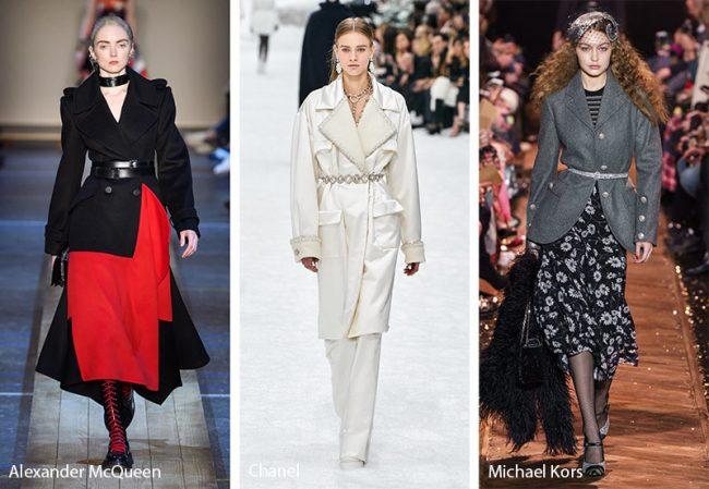 Cinture sopra le giacche moda inverno 2019 2020