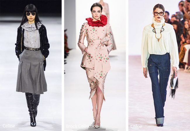 Colletti arricciati moda inverno 2019 2020