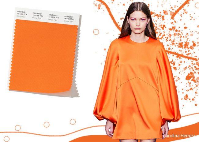 Colori Moda Abbigliamento Inverno 2019 2020 Orange Tiger