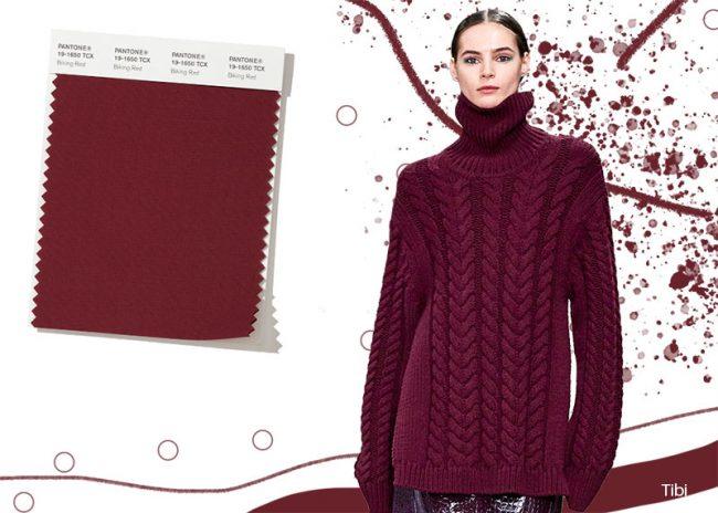 Colori Moda Abbigliamento Inverno 2019 2020 Rosso Bordeaux Biking Red