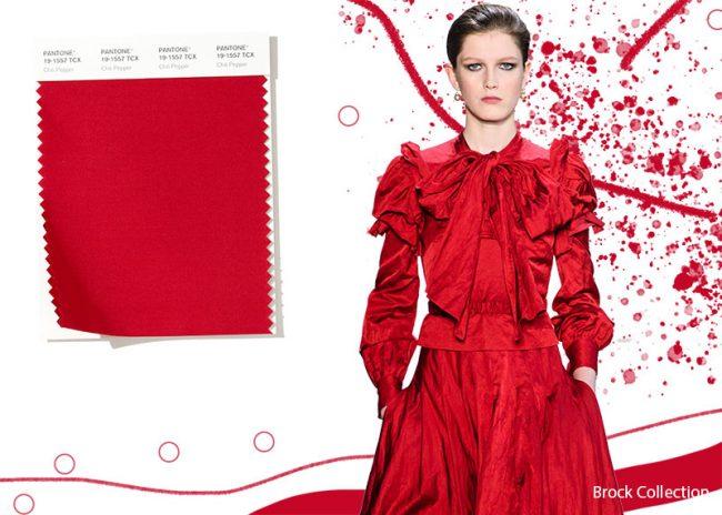 Colori Moda Abbigliamento Inverno 2019 2020 Rosso Chili Pepper