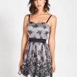 Elegante vestito corto Rinascimento effetto pizzo autunno inverno 2019 2020