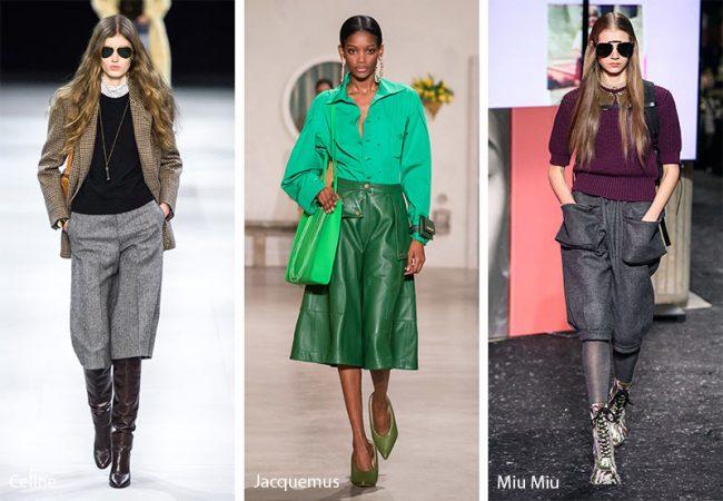 Pantaloni culotte moda inverno 2019 2020