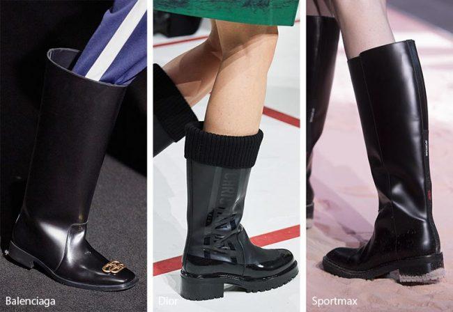 Rain Boots Stivali da pioggia moda inverno 2019 2020