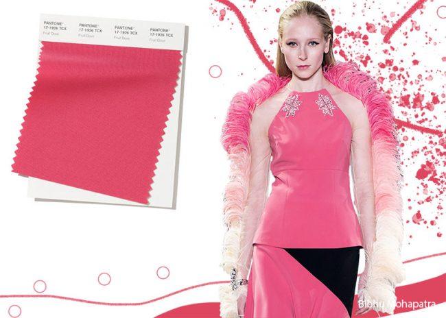 Rosa Fruit Dove Pantone moda colori inverno 2019 2020