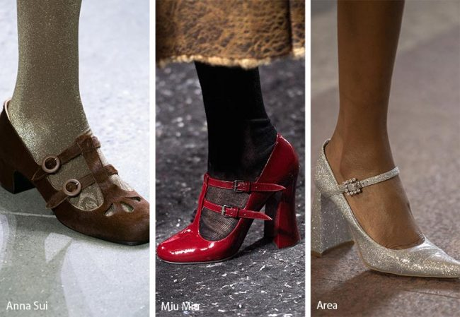 Scarpe Mary Jane modello moda inverno 2019 2020