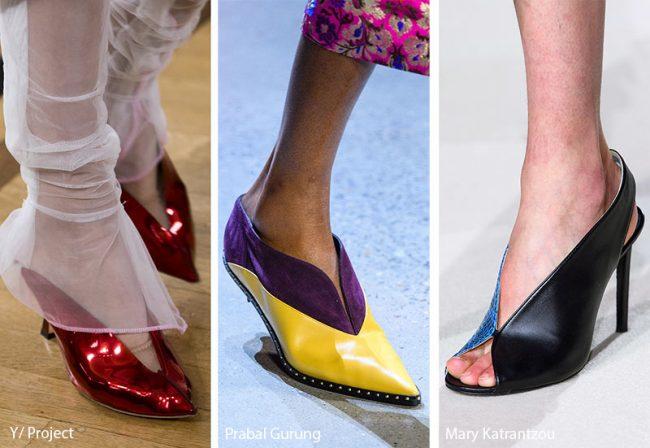Scarpe con scollo a V moda inverno 2019 2020