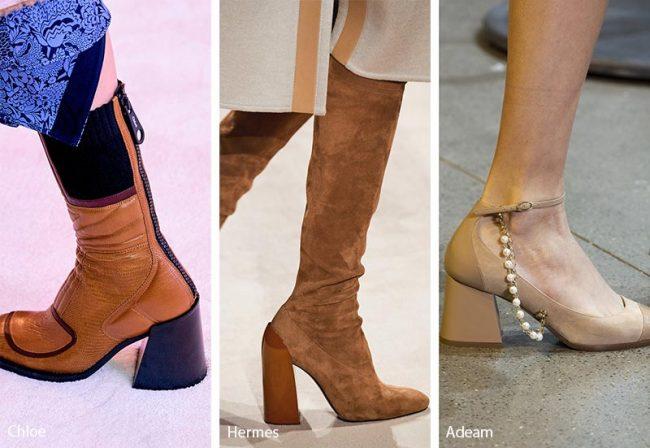 Scarpe e Stivali con tacchi comodi grossi e squadrati moda inverno 2020