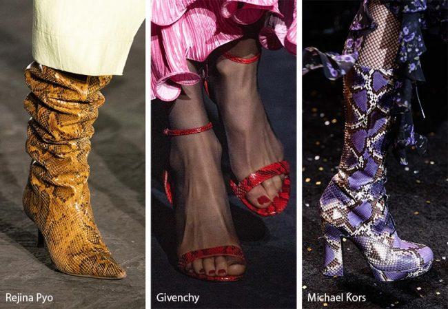 Scarpe e stivali nelle varie stampe animalier moda inverno 2019 2020