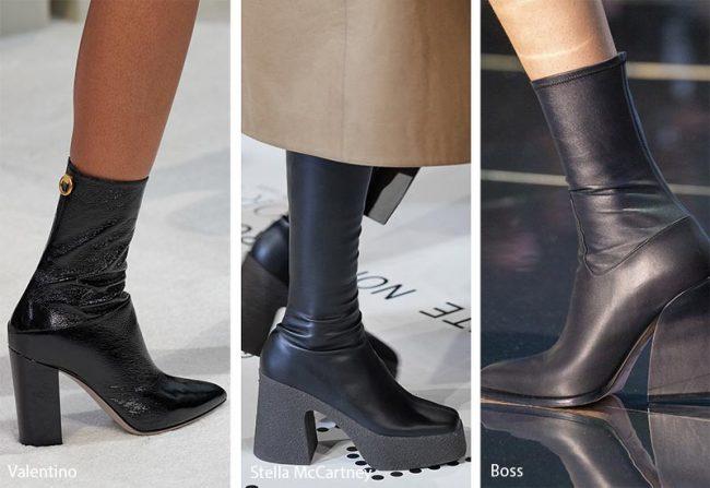 Stivali effetto calzino moda inverno 2019 2020